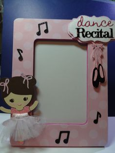 Altered wooden frame using Cricut Cartridge Twinkle Toes
