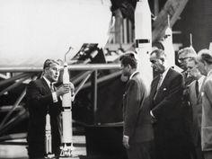 von Braun, JFK and Lyndon Johnson