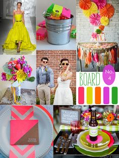 Neon Wedding Inspiration with Yellow, Green, Pink, and Orange
