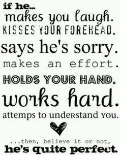 I love fore head kisses