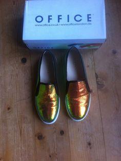 coole Sneaker, Lunar Slip on Trainer, holographic snake, 41, office London