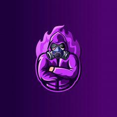 Mysterious esport logo design Premium Ve. Team Logo Design, Mascot Design, Gaming Wallpapers, Cute Cartoon Wallpapers, Logo D'art, Warrior Logo, Cuadros Star Wars, Mobile Logo, Fire Image