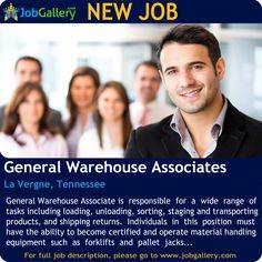 SEEKING GENERAL WAREHOUSE ASSOCIATES IN LA VERGNE, TENNESSEE  #Job #NewJob #Jobs #Trending #JobOpportunity  #jobgallery #LogisticsJobs #warehouse #GeneralJobs #LaVergneJobs #TennesseeJobs #LaVergne #Tennessee