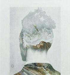 "Saatchi Art Artist Oriol Angrill Jordà; Painting, ""Man Back Mountain | blendscapes"" #art"