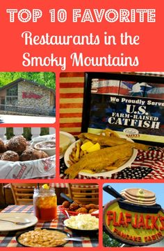 Top 10 Favorite Restaurants in the Great Smoky Mountains