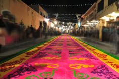 The night that no one sleeps in Huamantla   Tlaxcala   where they paint the streets... another reason why I love Mexico