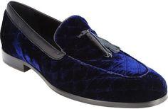 Velvet Quilted Tassel Loafers, Arfango