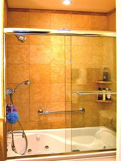 another shelving option for a showertub