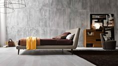 lit adulte design Metropolitan en blanc cassé