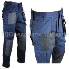 Blackrock Mens Cargo Combat Work Wear Trousers Pants Knee Pad Pockets Navy Blue   eBay