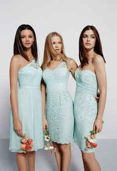 Pretty 'maids in Mint at @DavidsBridal
