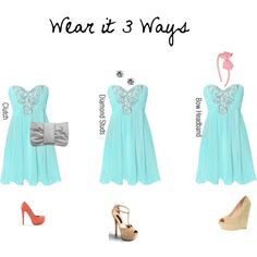 Wear it 3 Ways (Blue Homecoming Dress), created by kate-taylor-1 on Polyvore