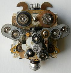 """ronbeckdesigns:  Steampunk owl art 