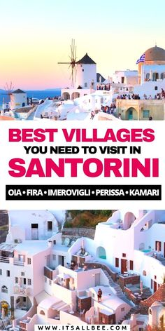 Beautiful Santorini villages you need to visit. While Oia may be among the most popular villages in Santorini but you can add Fira, Kamari, Perissa, Pyros, Firostefani, Megalochori, Finikia, Emporio, Imerovigli, Akrotiri and more. #greece #santorini | megalochori traditional village | finikia village | oia village santorini | pyrgos village santorini | emporio village | firostefani village Santorini Travel, Greece Travel, Italy Travel, Travel Usa, Europe Travel Guide, Europe Destinations, Travel Guides, Travel Info, Travel Abroad
