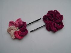 Crochet Hair Using Bobby Pin : ... pin crochet on Pinterest Crochet flowers, Crochet hair and Bobby