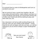 This Kindergarten Greeting Packet is a nice way of welcoming new students and parents to your classroom! Included is a letter from teacher to stu. Notes To Parents, Parents As Teachers, 1st Day Of School, Back To School, Teaching Reading, Teaching Ideas, Classroom Organization, Classroom Ideas, Welcome To Kindergarten