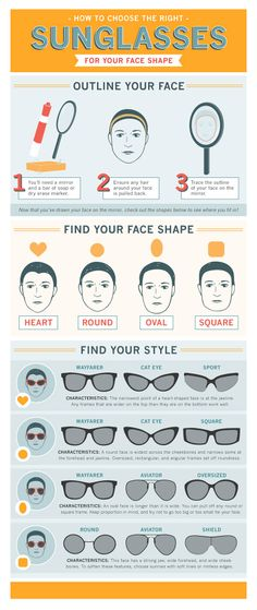 Guide to choose the right sunglasses for your perfect face. You can determine what is your face shape and know how to choose the right sunglasses Hot Shots, Sunglasses For Your Face Shape, Every Man, Tips Belleza, You Choose, Face Shapes, Eyewear, Beauty Hacks, Finding Yourself