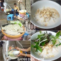 Banh Duc (Rice cake made of rice flour and lime water.)