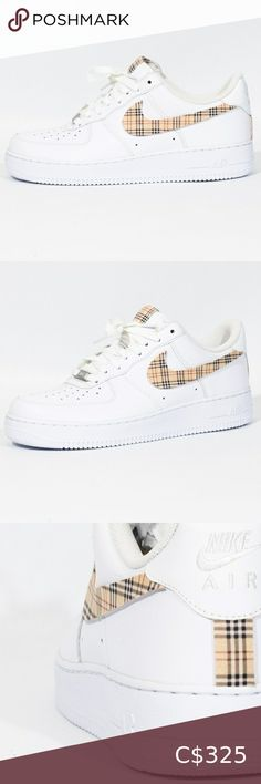 Nike Air Force Burberry Limited supplie Nike Air Force 1 Custom 'Available in all sizes for Men and Women.  For Womens sizes subtract 1.5 from your current size and select it, for example:  Women size 7 = 5.5 US Men Women size 8 = 6.5 US Men Women size 9 = 7.5 US Men Women size 10 = 8.5 US Men   All of our designs are handmade and made to order, we manage our orders professionally and use original high quality sneakers. Nike Shoes Sneakers Air Force 1, Nike Air Force, Nike Shoes, Shoes Sneakers, Us Man, Nike Men, Size 10, Man Shop