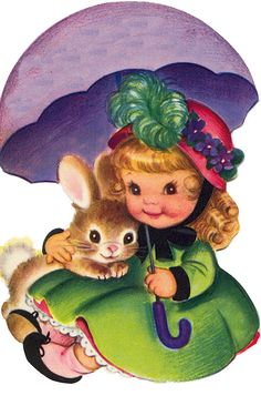 Little+girl+and+bunny+under+an+umbrella.png (322×500)