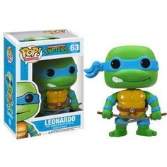 It's the mutant hero you know and love in Pop. Vinyl form with this Teenage Mutant Ninja Turtles Leonardo Pop. Vinyl Figure. Standing 3 3/4-Inch tall, Leonardo