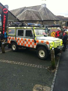 Land Rover Defender 110 Tdci Utility Wagon Ambulance of the Langdale and Ambleside Mountain Rescue Team