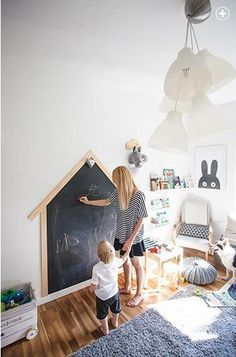 41 Best Kids Room Ideas Decoration and Creative - Pandriva Need a children room layout ideas for your child? From charming bunk beds to elegant nurseries to Do It Yourself decoration ideas, right here are the best kids area layout and embellish! Little Architects, Playroom Decor, Chalkboard Wall Playroom, Chalkboard Walls, Large Chalkboard, Office Decor, Kids Room Design, Playroom Design, Wall Design