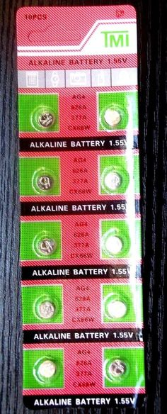 10-PACK of AG4 Button Cell Watch Battery Batteries (SR626SW-377A-LR66-LR626) #TMIMalam