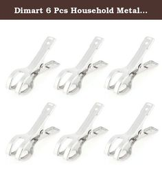 """Dimart 6 Pcs Household Metal Silver Tone Laundry Clothes Pins Clips Clamps. Product Name : Clothes Pins;Main Material : Metal Color : Silver Tone Size (Each) : 8.5 x 2.5 x 5.5cm / 3.3"""" x 1"""" x 2.2"""" (L*W*H) Weight : 83g Package Content : 6 x Clothes Pins."""