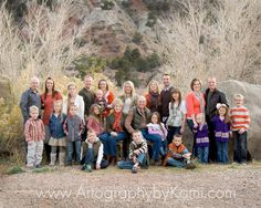I shot this big family portrait back in November. Love the Johnsons! #familyphotos #Utahphotographer