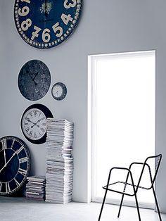 Industrial chic wall clocks