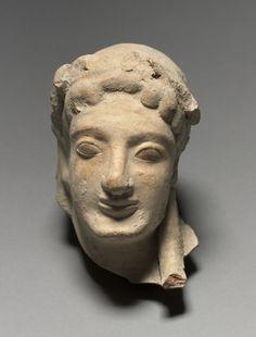 Head, 525 BC, Sicily, Selinus, 6th Century BC. Cleveland Museum of Art, USA.