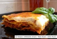 Klasszikus lasagne házi sugoval