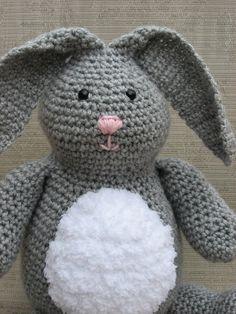 Bunny Crochet Pattern pdf  Honey Bunny rabbit by nutsaboutknitting