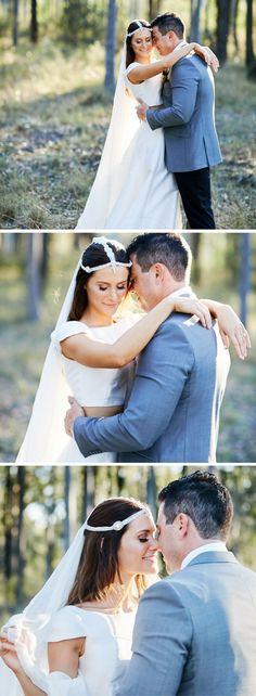 Ironbark Hill Vineyard | Hunter Valley Wedding | White Lane Studio Photography | Love her headpiece & dress!