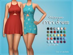 This time I bring you guys a short, summery dress :D. I'm really happy with how it came out but it was quite an adventure trying to mesh this bad boy. Hm… I've been in a cc making mood lately! Hope you enjoy! The Sims 4 Pc, Sims 4 Teen, Sims 4 Mm Cc, Sims 4 Cas, Sims 4 Stories, Sims 4 Gameplay, Sims 4 Clothing, Female Clothing, Sims 4 Dresses