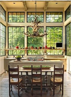 windows and high ceilings
