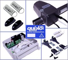 QUIKO NEO AUTOMATIC REMOTE ELECTRIC GATE OPENER KIT DUAL RAMS - 2 REMOTES.! in…