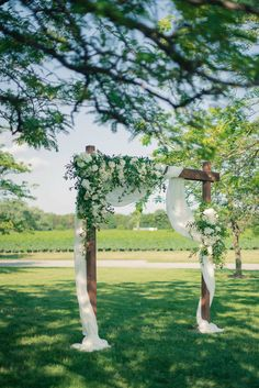 Classic Navy and Gold Tented Wedding Rustic Wedding Arch with Draping and Greenery, Wooden Wedding A Wooden Wedding Arches, Wedding Arch Rustic, Wedding Arch Flowers, Wedding Ceremony Arch, Outdoor Wedding Decorations, Wedding Ideas, Fall Wedding, Wedding Black, Ceremony Backdrop