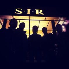 in front of S I R Cool shot