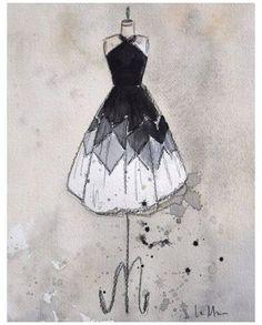 Dress Design Drawing, Dress Design Sketches, Dress Drawing, Fashion Design Drawings, Fashion Sketches, Fashion Drawing Dresses, Fashion Illustration Dresses, Drawing Fashion, Moda Do Momento