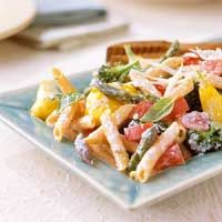 Summer vegetable Bacon Carbonara recipe, with corn fresh off the cob!