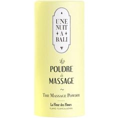 Une Nuit A Bali The Massaging Powder (€14) ❤ liked on Polyvore featuring beauty products, bath & body products, fillers, yellow fillers, beauty, fillers - yellow, yellow and magazine
