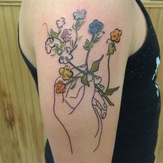 Image result for andy warhol flower tattoo