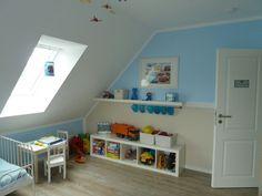 Kinderzimmer hellblau und braun von Topotec – Zimmerschau.de