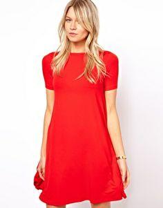Image 1 ofASOS Swing Dress With Short Sleeves