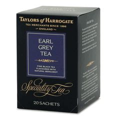 Taylors of Harrogate Earl Grey Tea String and Tag Teabags - 20 count http://www.englishteastore.com/taylors-of-harrogate-earl-grey-20.html