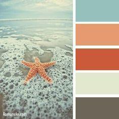 Combinations of Colors, Palette 1 No. Beach Color Palettes, Colour Pallette, Color Palate, Colour Schemes, Color Combinations, Wall Colors, House Colors, Paint Colors, Color Swatches