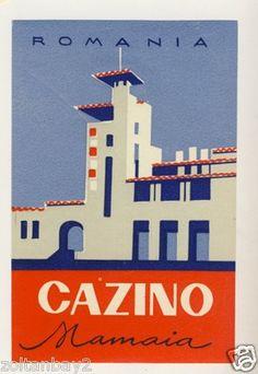 Old Luggage Label Etichetta Kofferaufkleber Hotel Cazino Mamaia Romania | eBay