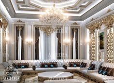 Pictures of master living room ideas is created to be the inspiration of for you. Interior Design Dubai, Residential Interior Design, Chandelier In Living Room, Living Room Windows, Italian Living Room, Arabic Decor, Rustic Sofa, Duplex House Design, Mansion Interior
